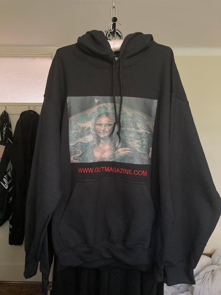 Image of Mona Lisa back tattoo Hoodie