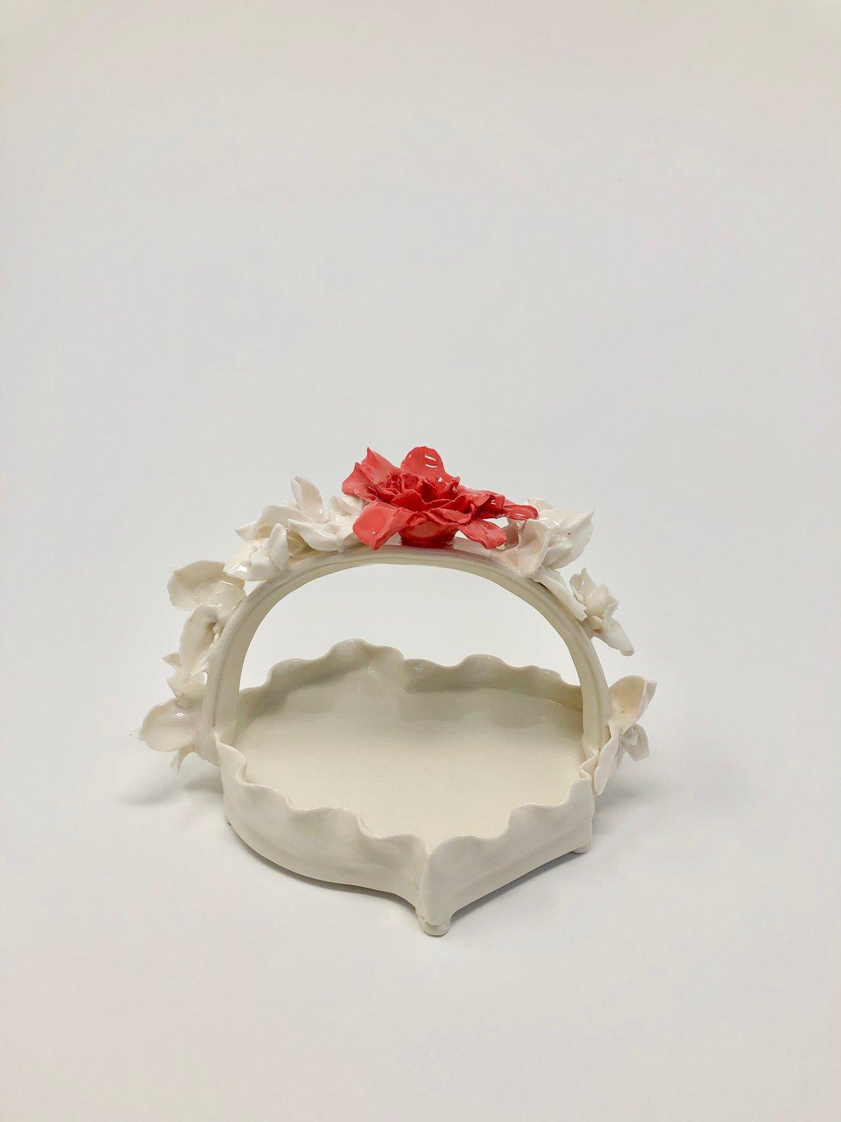 Image of Red Rose Basket