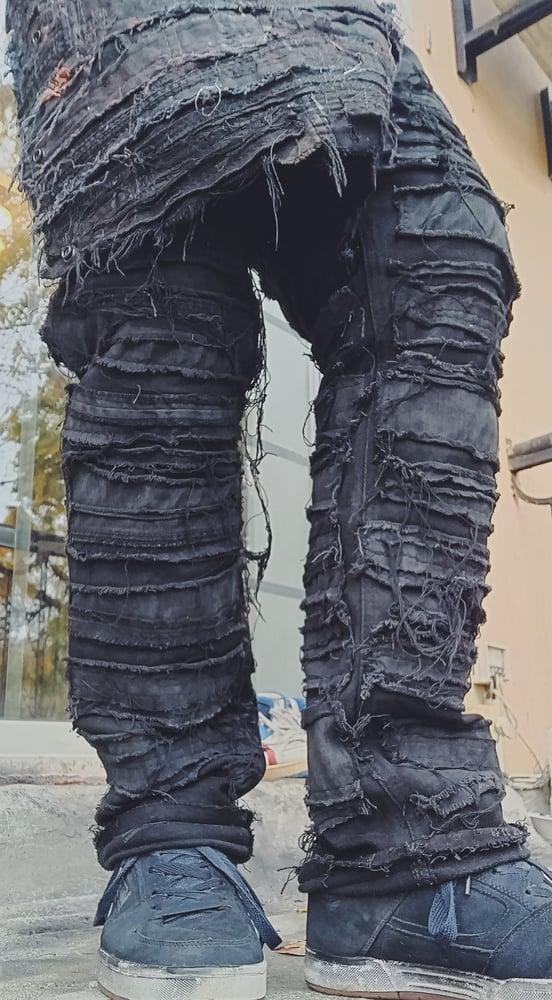 Image of Frankenstein distressed pants