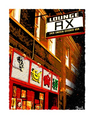 "Image of Lounge Ax Chicago Giclée Art Print - 11"" x 14"""