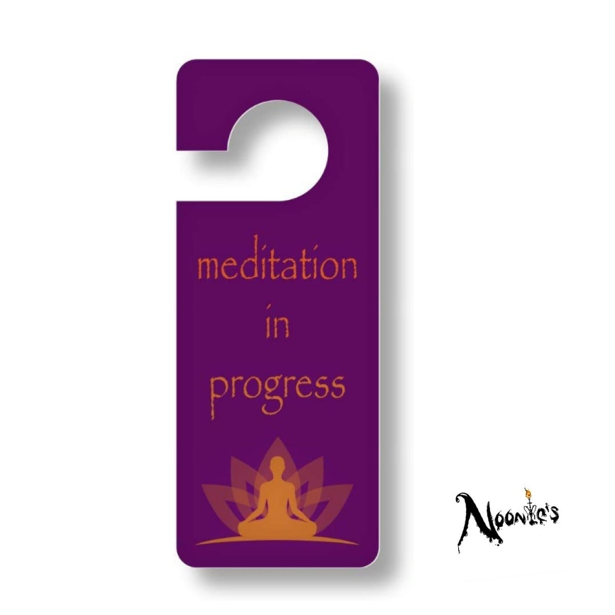 Image of Meditation door hanging sign