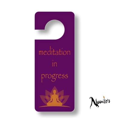 Image of Meditation door hanging sign