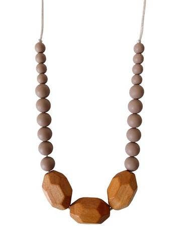 Image of Austin Teething Necklace - Desert Taupe