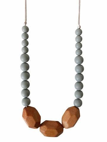 Image of Austin Teething Necklace - Grey