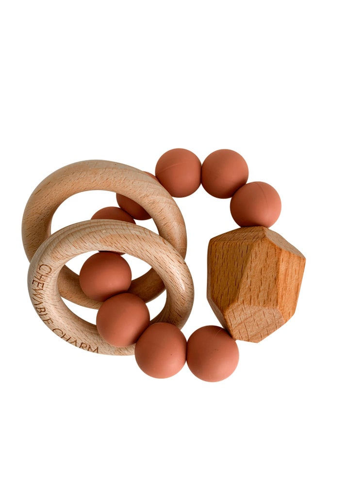 Image of Hayes Teether Ring - Terracotta