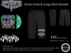Green Vinyl & Cargo Short Bundle
