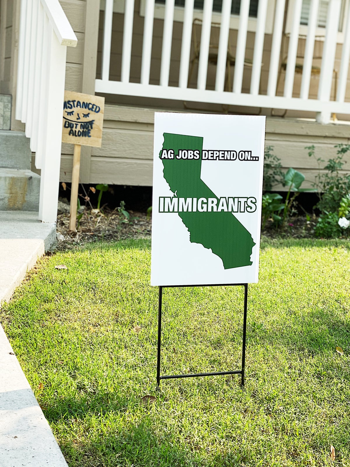 Ag Jobs Depend on Immigrants Yard Sign