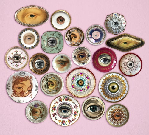 Image of Lover's Eye - Lola Flores - Fine China Plate - #0737