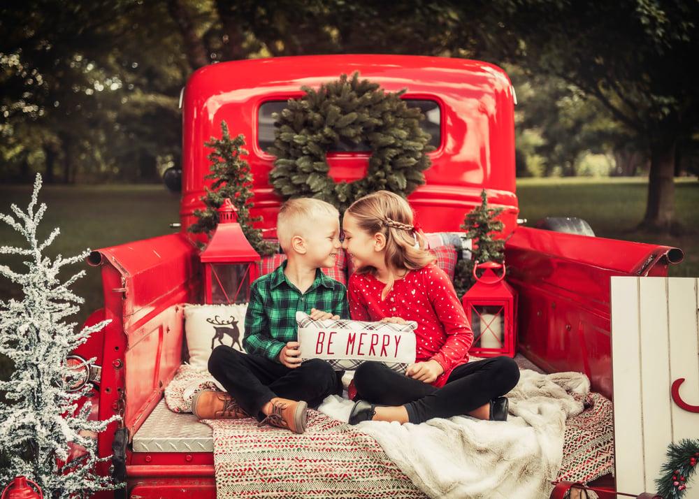 Image of Red Christmas Truck - Outside - Sunday, November 22nd