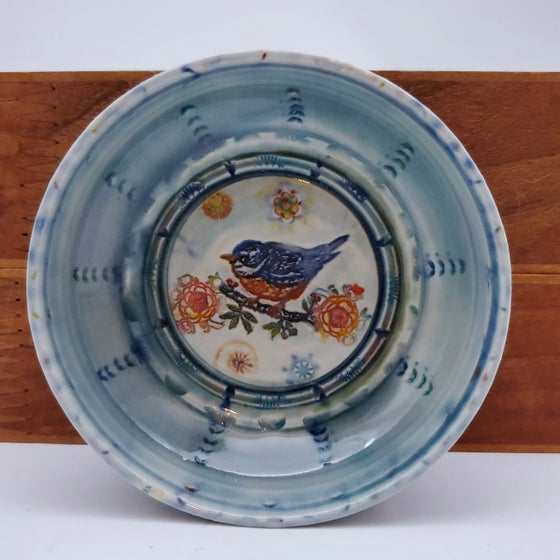 Image of Bluebird Porcelain Keepsake Dish