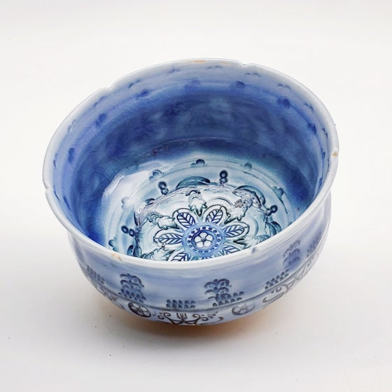 Image of Cobalt Mandala Tea Bowl