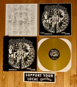 Image of OVERDÖSE - Two Wheels and Gone LP (Gold & Black)