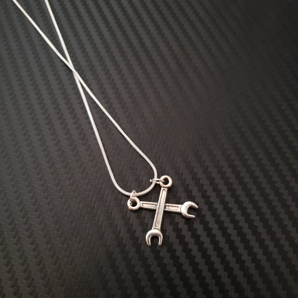 Image of Criss Cross Wrench Necklace
