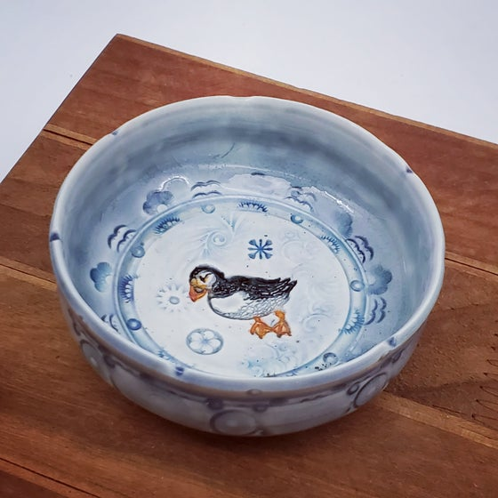 Image of Porcelain Puffin Keepsake Dish