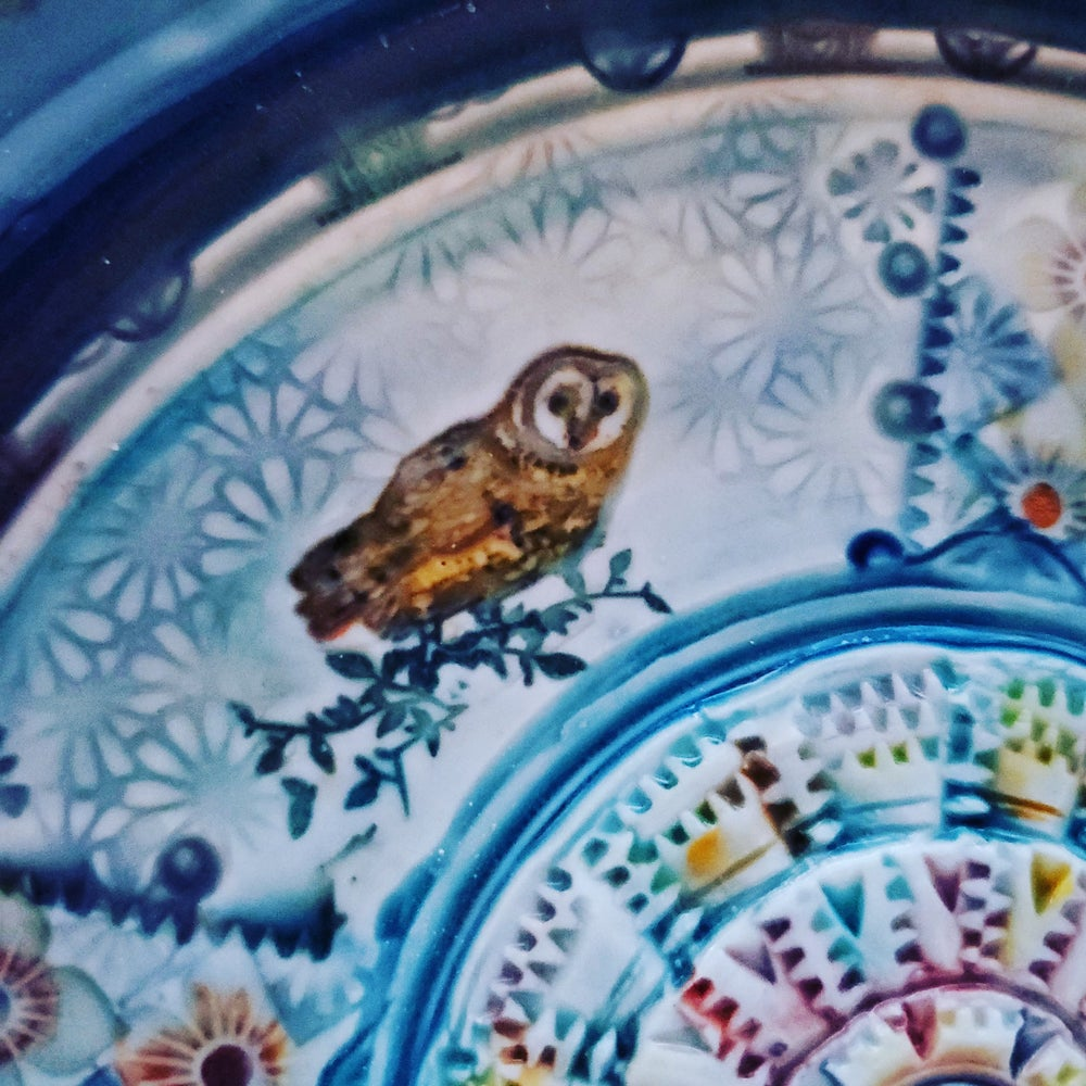 Image of Porcelain Owl and Pussycat Garlic Grater