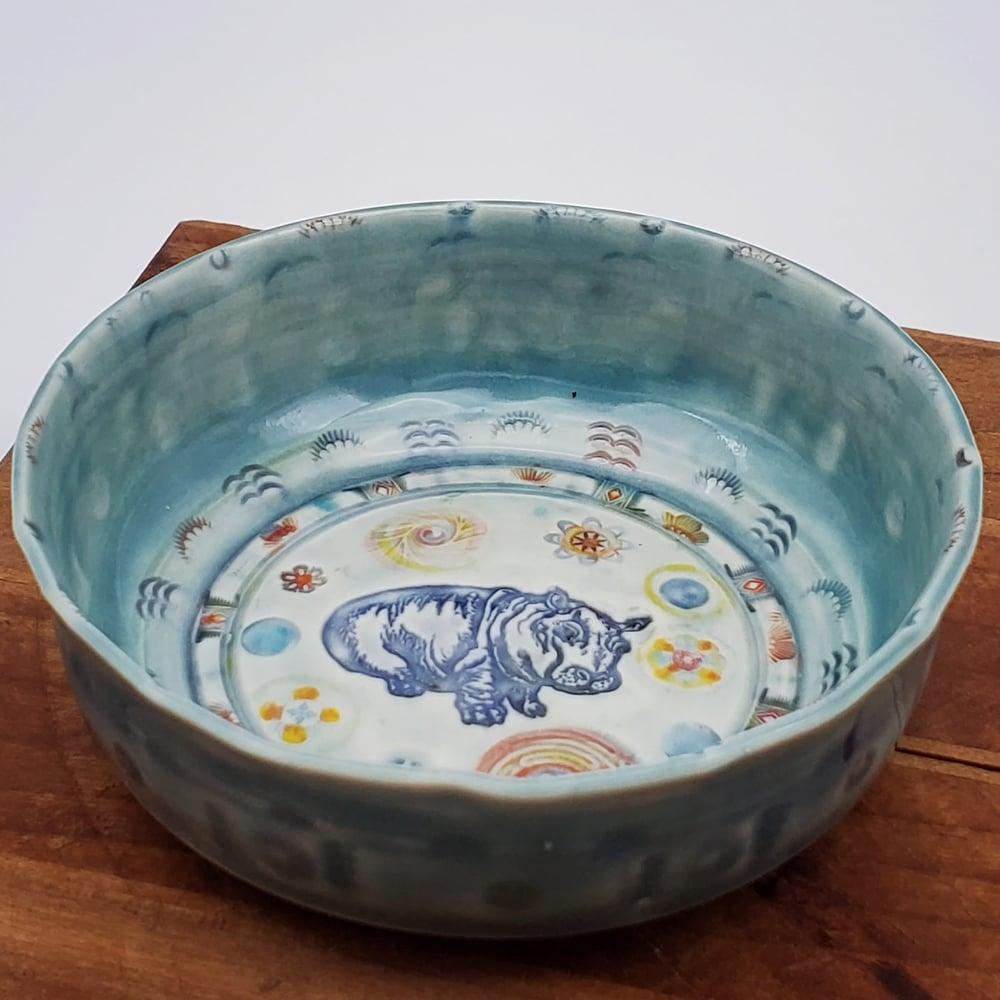 Image of Baby Hippo Porcelain Keepsake Dish