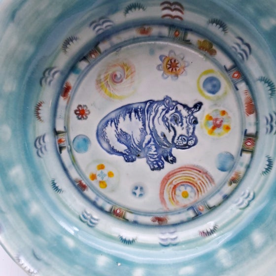 Image of Baby Hippo Porcelain Keepsake Dish