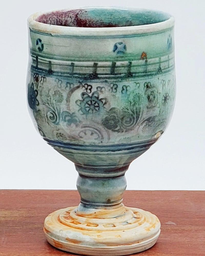 Image of Rainbow Flower Porcelain Chalice