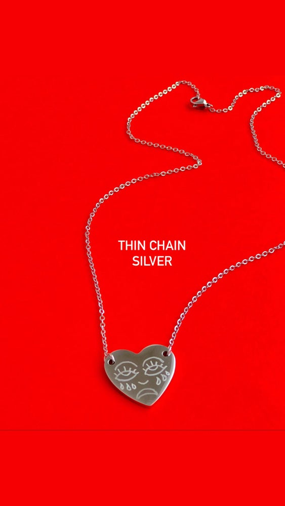 Image of CRYING FACE HEART CHAIN from $55