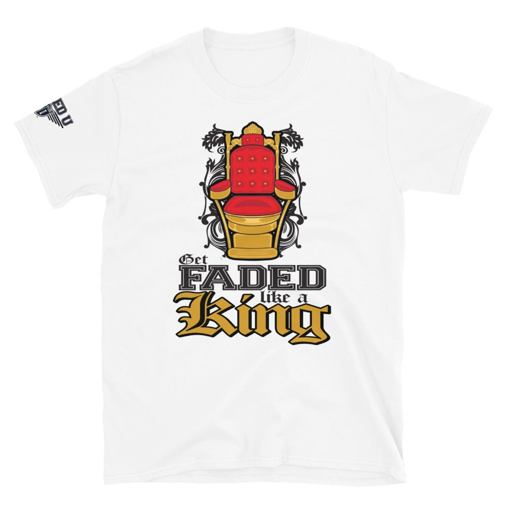 Image of Get Faded Like A King T-Shirt (White)