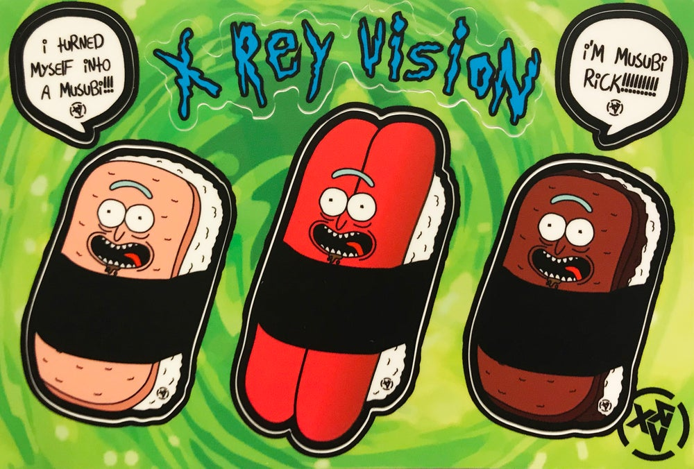 Image of Musubi Rick Sticker Sheet