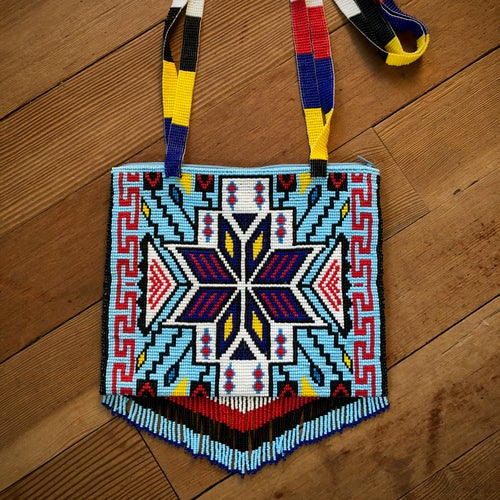 Image of Electric Waves Beaded Bag