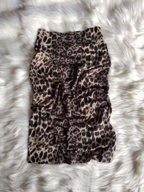 Image of Leopard Pencil Skirt