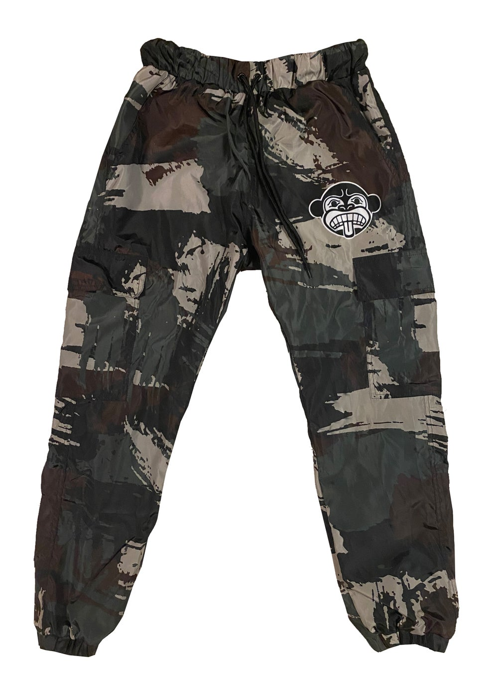 Cargo Pocket Camo Windbreaker Pants