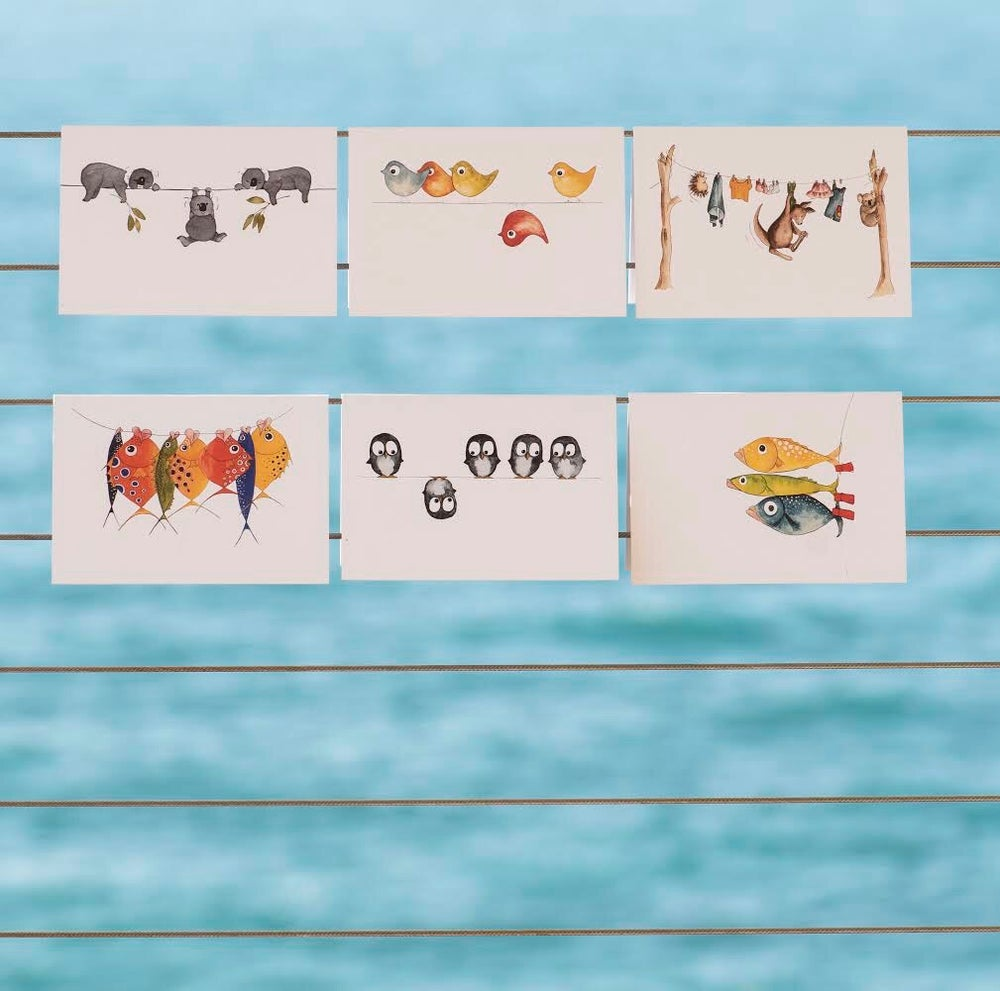 Image of Set of 6 Australian made greeting cards