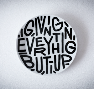 Image of Giving everything but up