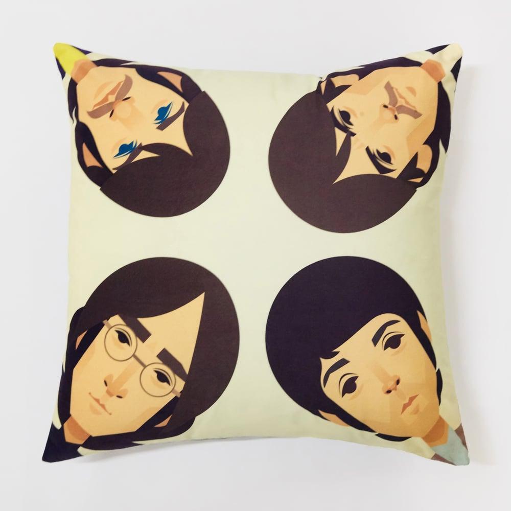 John Paul George Ringo cushion