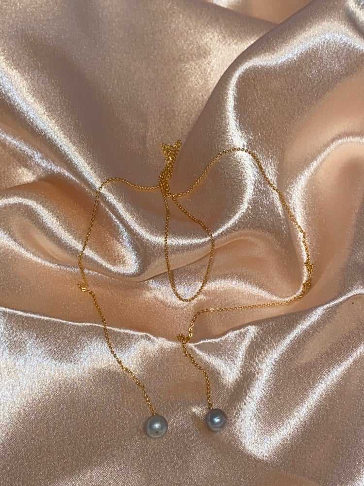 Image of 18K GOLD PLATED PEARL NECKLACE