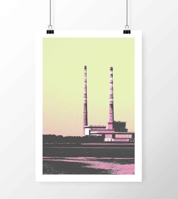 Image of Poolbeg Chimneys Limited Edition Print