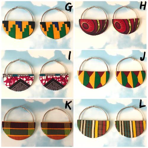 Image of Half moon hoop earrings