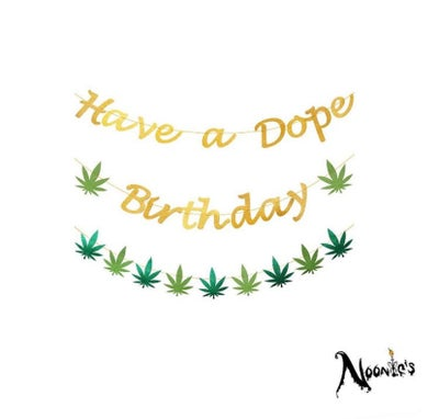 Image of Dope birthday banner