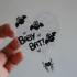 Baby Bat Clear Sticker Image 3