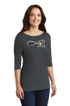 "I signed up for this... 3/4 Sleeve ""Women's Perfect Weight Tee"""