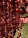 Super Seven Mala, Included Amethyst Mala with Cacoxenite and Hematite
