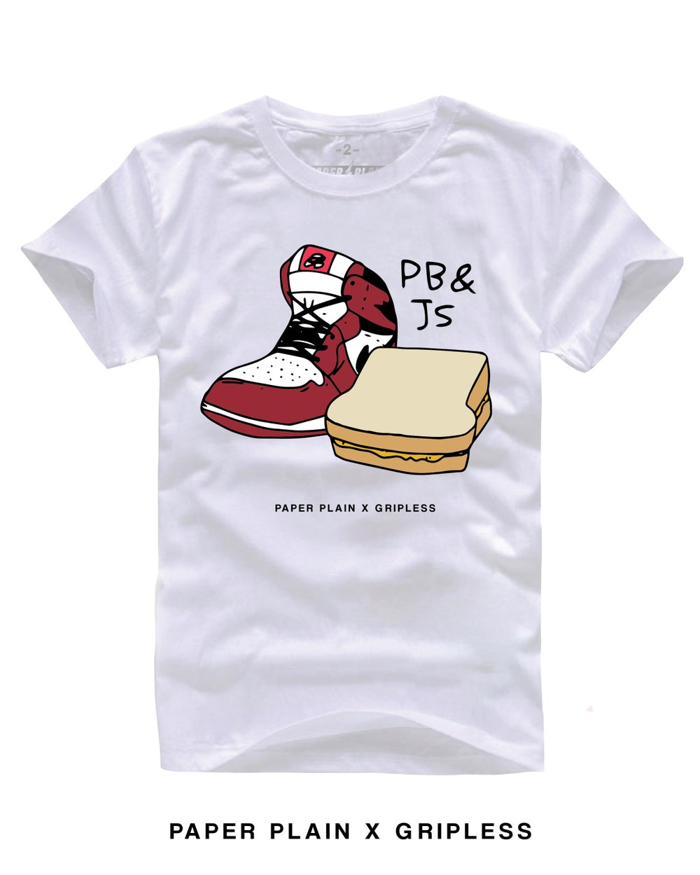 PB & J's  TEE WHITE (GRIPLESS COLLAB)