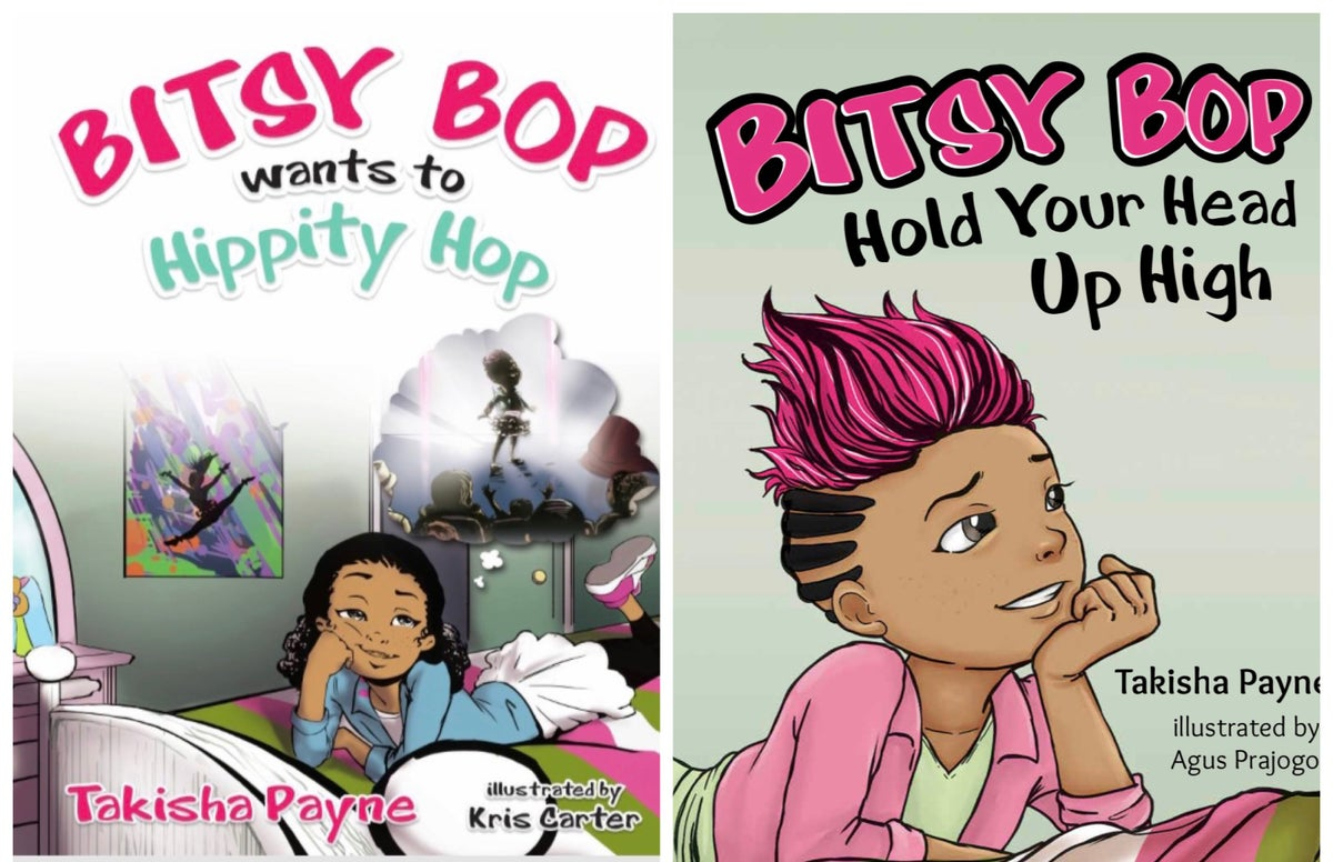 2 Book Set (Signed) featuring Bitsy Bop Wants to Hippity Hop & Bitsy Bop Hold Your Head Up High