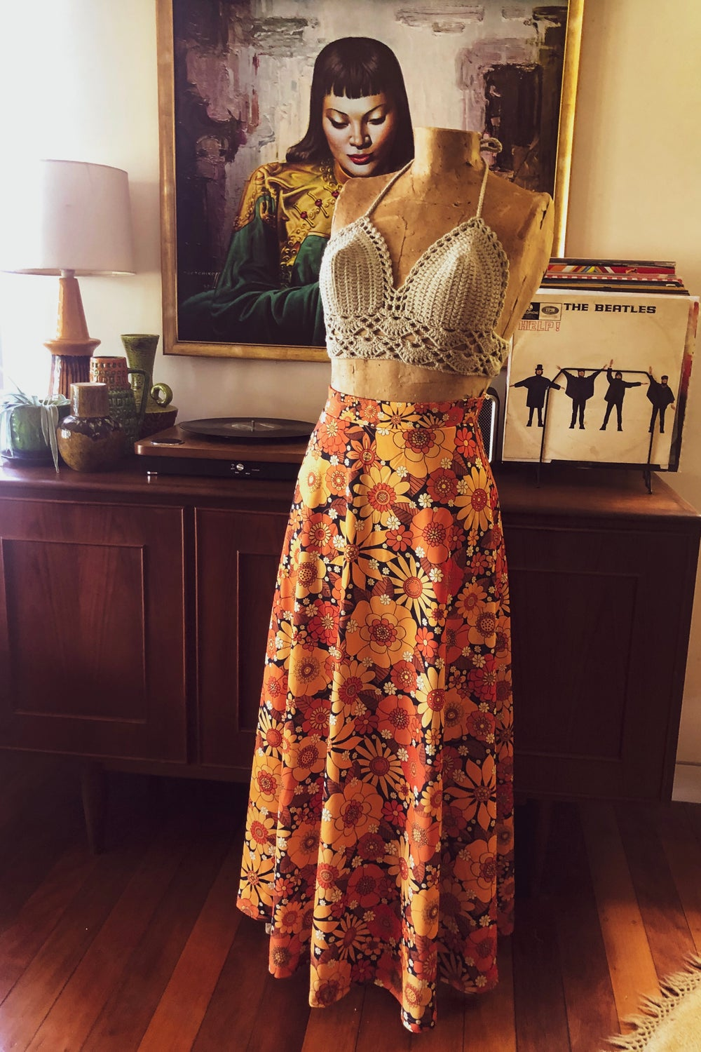 Yesterday lover maxi in Come and get your love orange