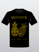 Image of Pineapple (Pick Your Side) T Shirt (Black with Front Print Only)