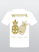 Image of Pineapple (Pick Your Side) T Shirt (White with Front Print Only)