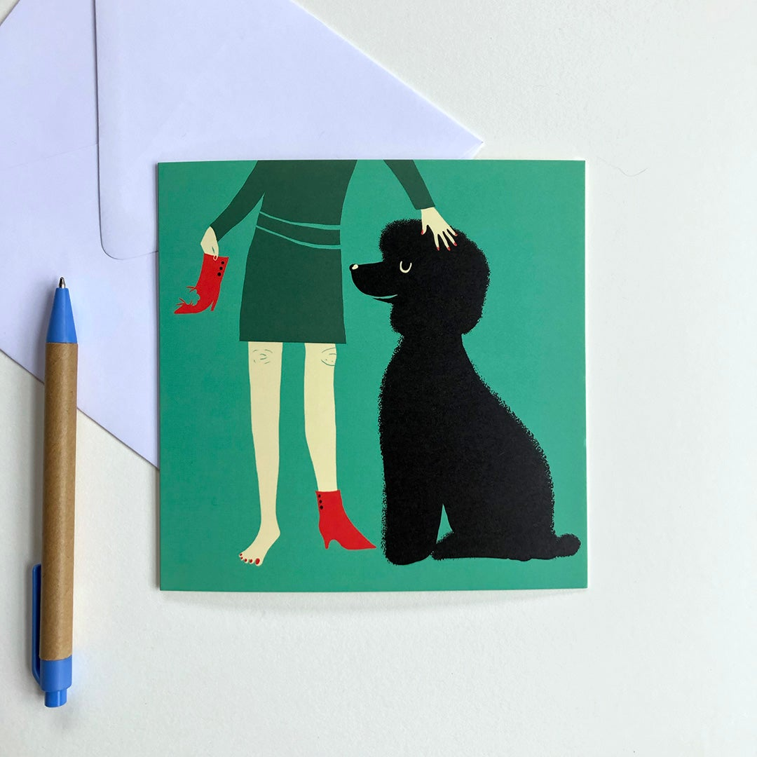 Greeting Card - Mischievous Poodle
