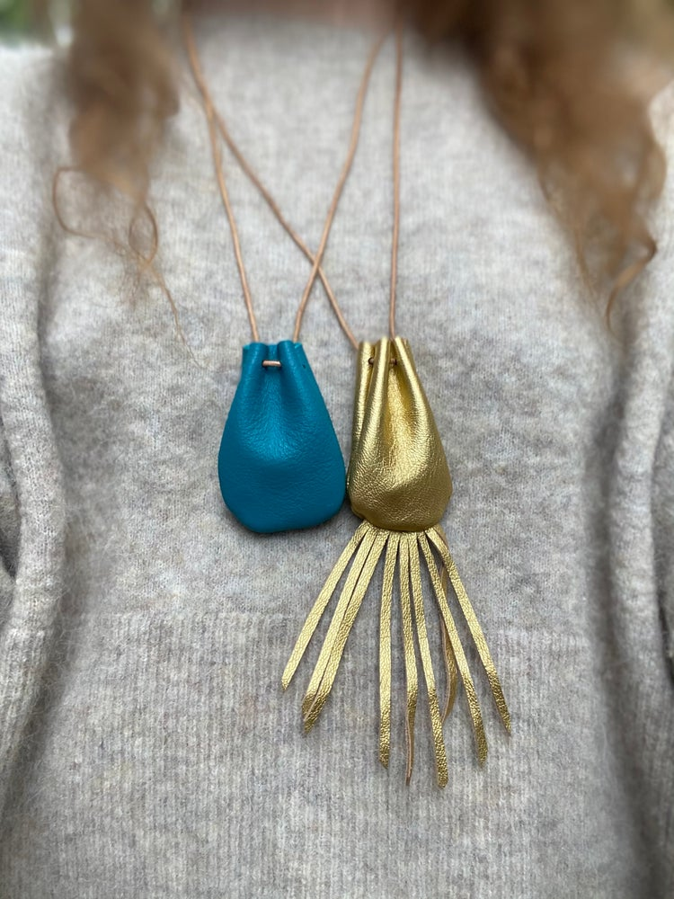Image of NEW vintage gold + turquoise