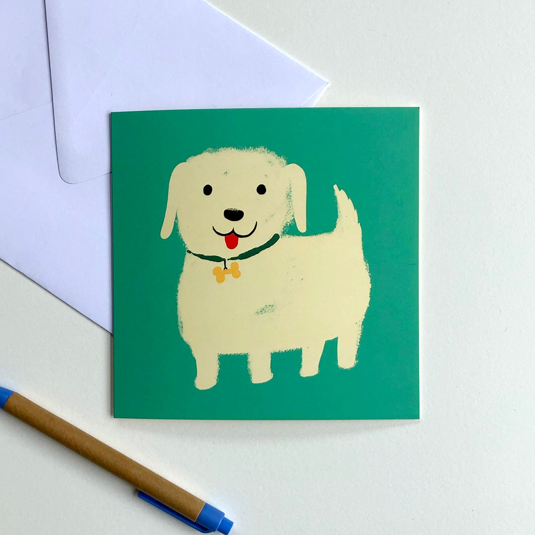 Greeting Card - White Pup