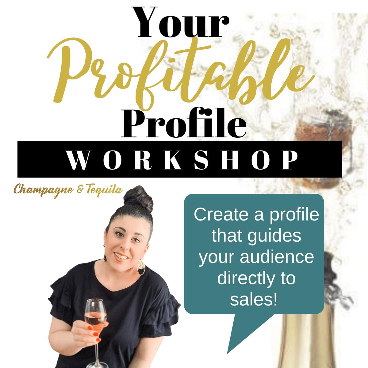 Image of Your Profitable Profile Workshop + BONUS Ebook
