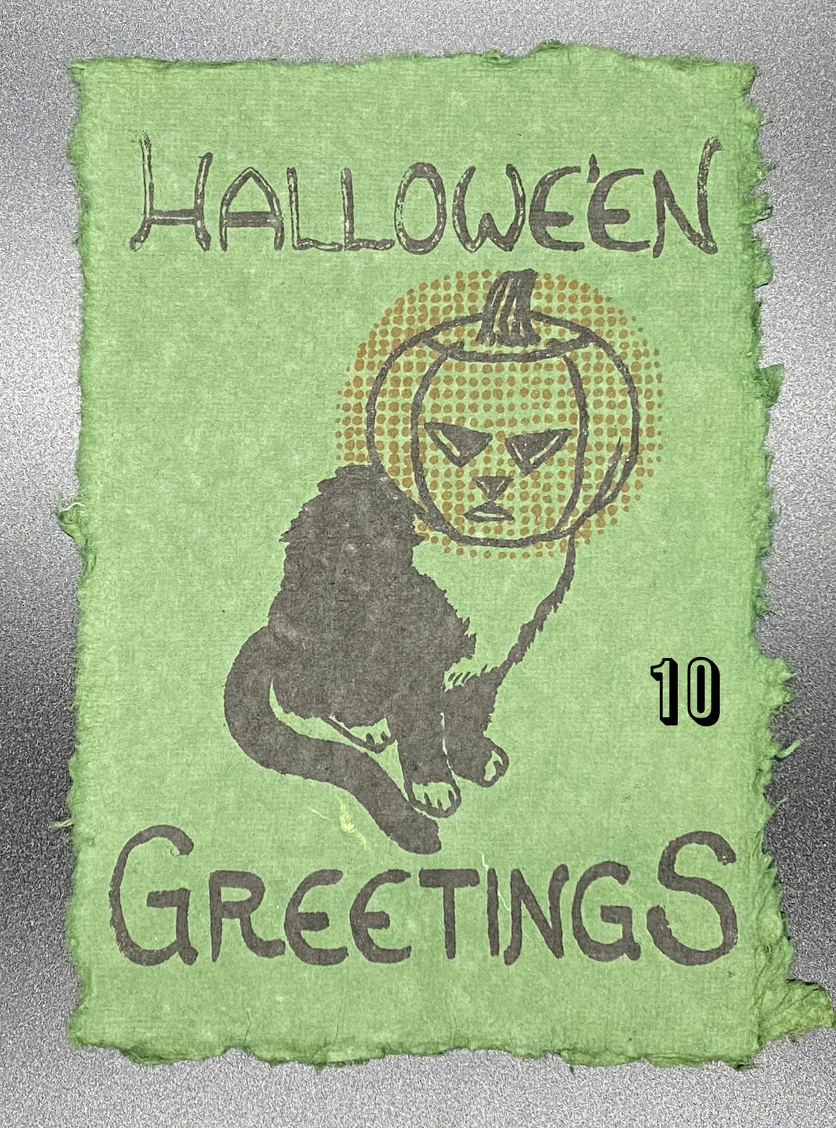 Image of Pumpkin Cat - Hallowe'en Greetings print