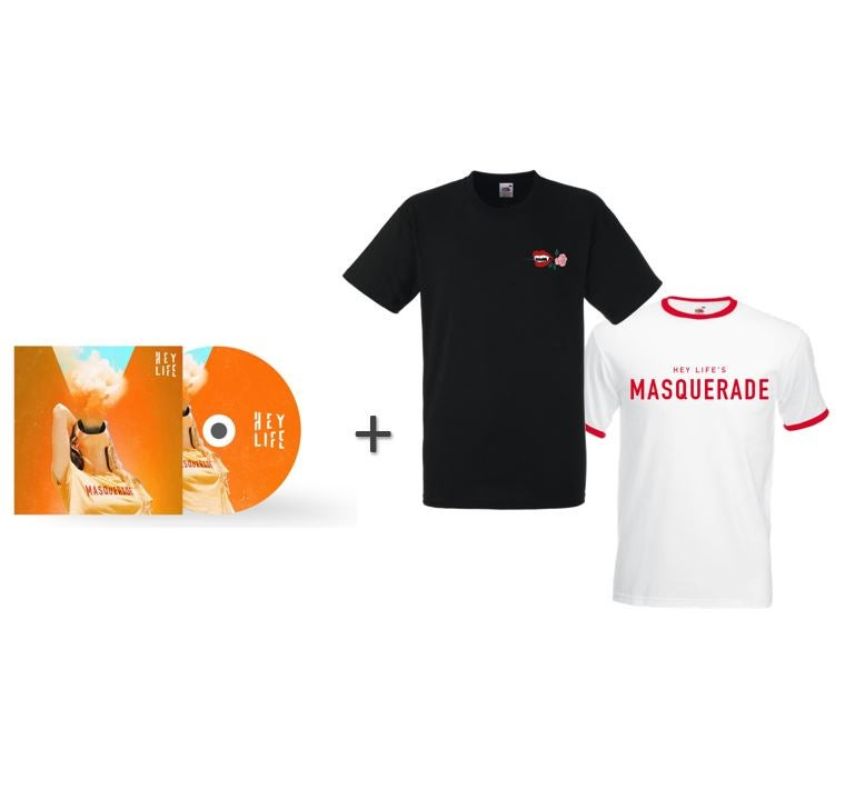 BUNDLE 'Masquerade' - SIGNED EP + 2 T-SHIRTS