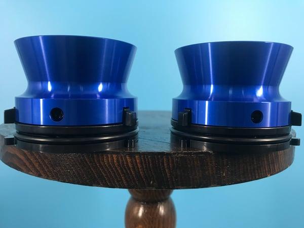"Image of Burlington Recording Professional Blue 1/4"" NAB Hub Adapters with Aluminum Trumpet (PAIR)"